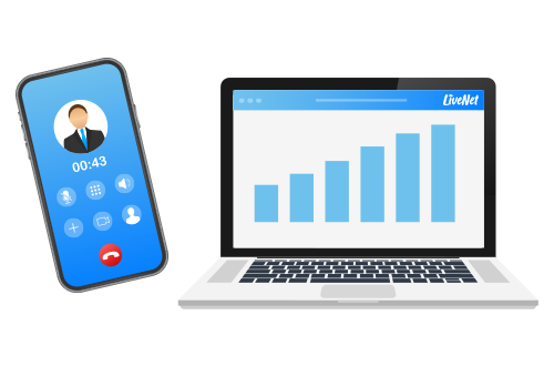 הדמיית ממשק מדידת שיחות