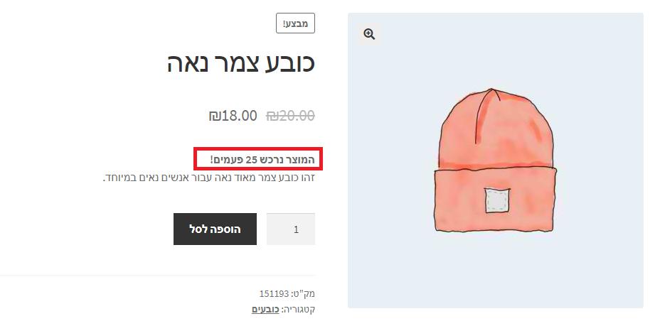 המחשת הפיצ'ר בעמוד מוצר